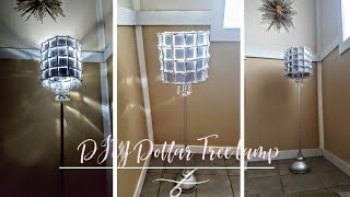DIY Dollar Tree Lamp - Elegant Floor Lamp on a Budget - Diy Lampshade Ideas - Glam Lamp - Room Decor