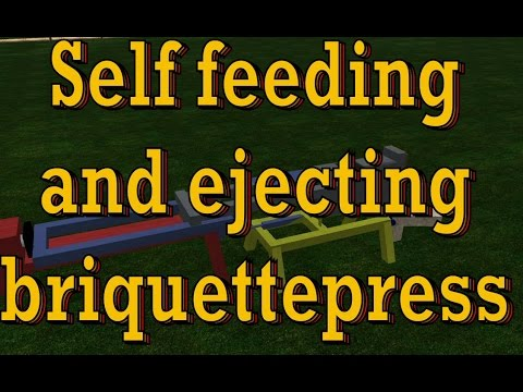 Self feeding and ejecting briquette press