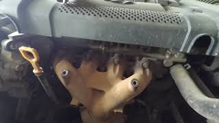 Как снять выпускной коллектор (Hyundai Sonata) соната тагаз 2.0 Beta.