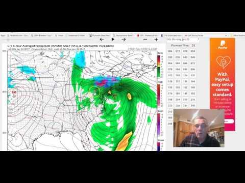 NOREASTER UNDERWAY COASTAL FLOOD HIGH WIND WARNING, WINTER WEATHER ADVISOIES INLAND 01232017