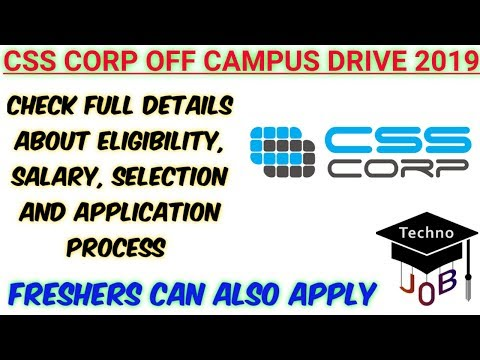 CSS Corp Off Campus Drive 2019 for Engineer Trainee | Any