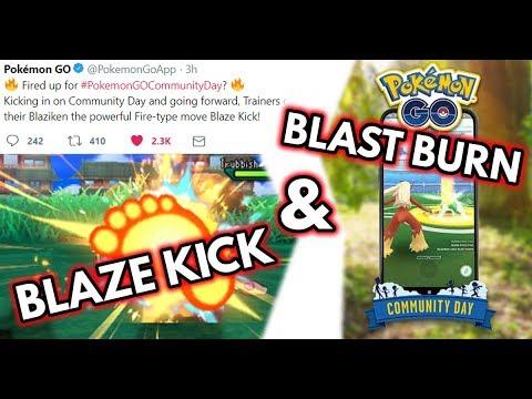 Blaze Kick & Blast Burn Confirmed! | Pokemon GO Community