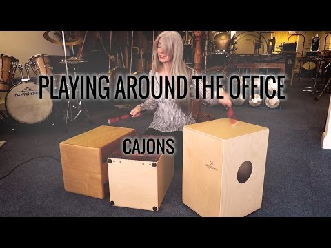 Evelyn Glennie | Playing Around The Office | Part 1 – Cajons