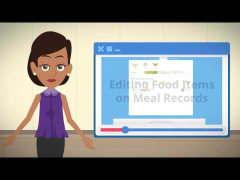 5) Editing Food Items on Meal Records