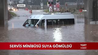 Servis Minibüsü Suya Gömüldü
