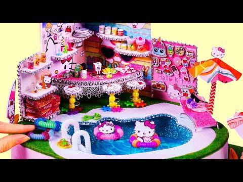 DIY Miniature Dollhouse ~ Swimming pool ~ Hello kitty #79