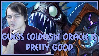 Hearthstone: Guess Coldlight Oracle is pretty good (kingsbane rogue)