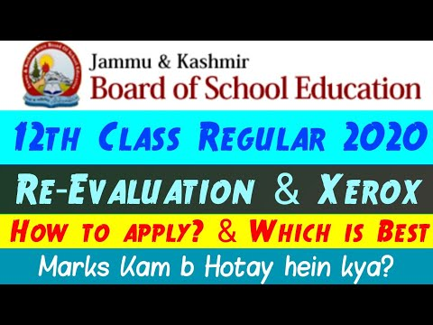 12th Class Jkbose How To Apply For Re-Evaluation U0026 Xerox | Which One Is Best | Marks Kam Hongay ??