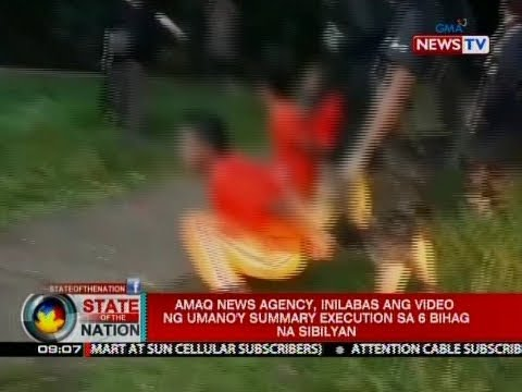 SONA: Amaq News Agency, Inilabas Ang Video Ng Umano'y Summary Execution Sa 6 Bihag Na Sibilyan