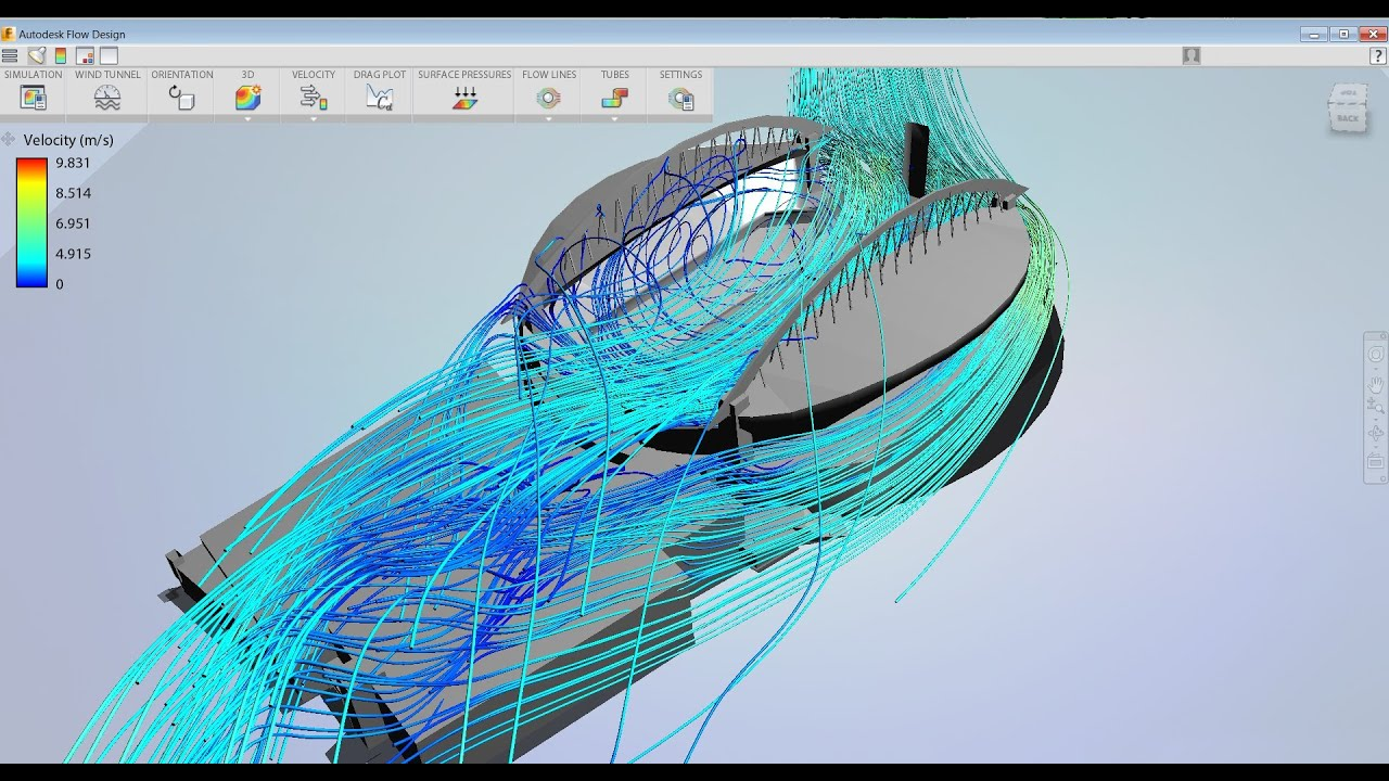 Autodesk Flow Design  How to Model Wind Inside a Stadium  YouTube