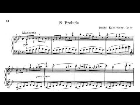 Kabalevsky: 24 Pieces for Children Opus 39 score