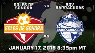 Soles de Sonora vs RGV Barracudas