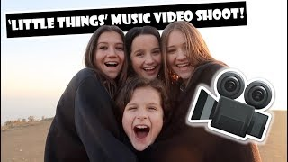 Little Things Music Video Shoot 🎥 (WK 374) | Bratayley