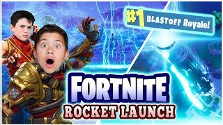 EPIC FORTNITE ROCKET LAUNCH!!! I Almost Had a Heart Attack! Victory Royale w/ Mr. Bee!