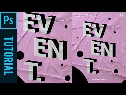 Glued Paper Poster - Tutorial Photoshop CC 2019
