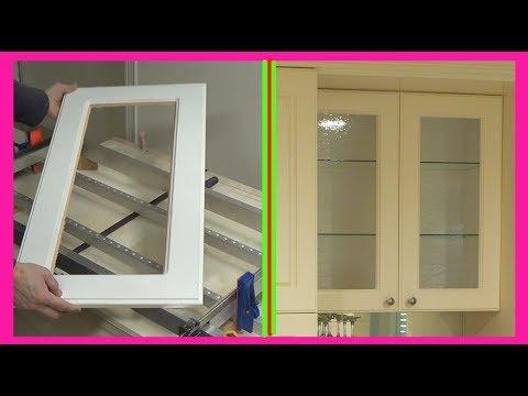 How to convert Kitchen Cabinet Door to Glass Door.