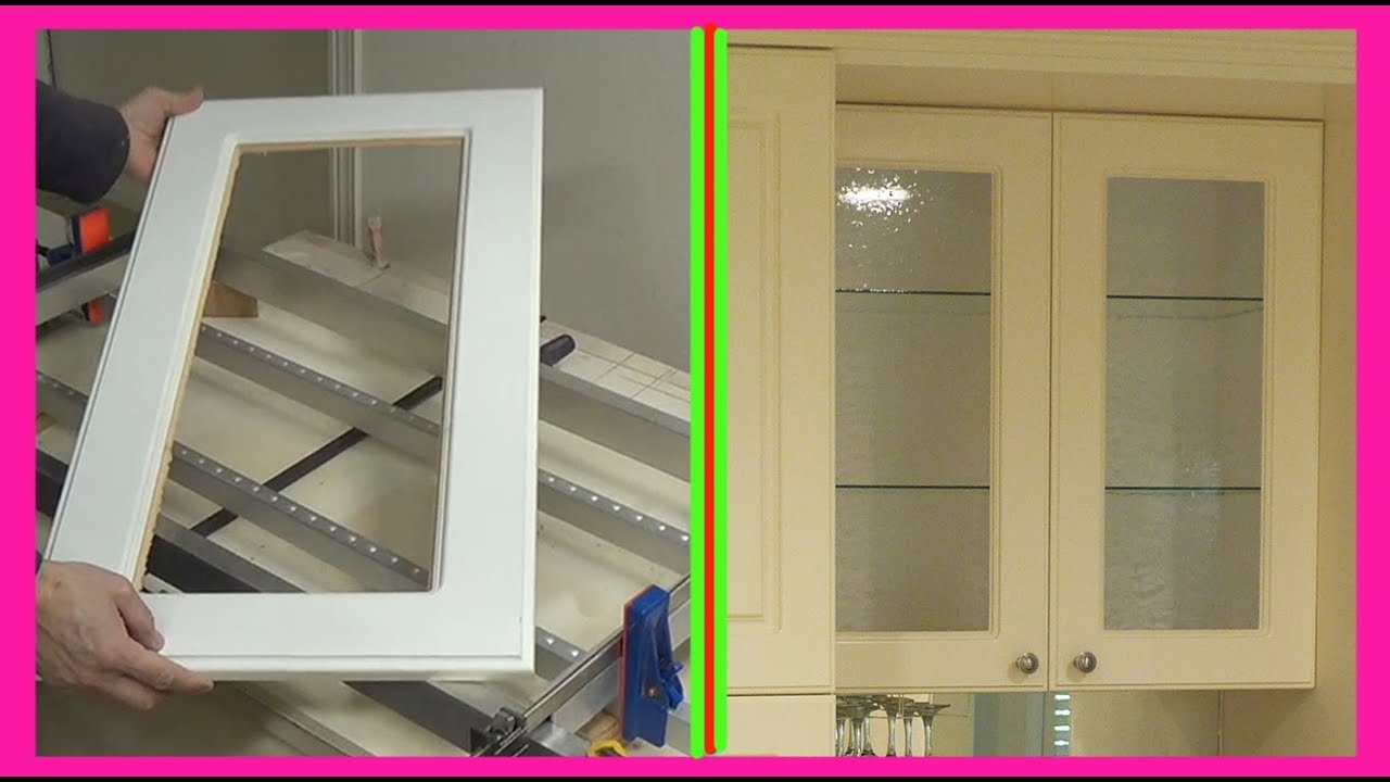 How to convert Kitchen Cabinet Door to Glass Door.