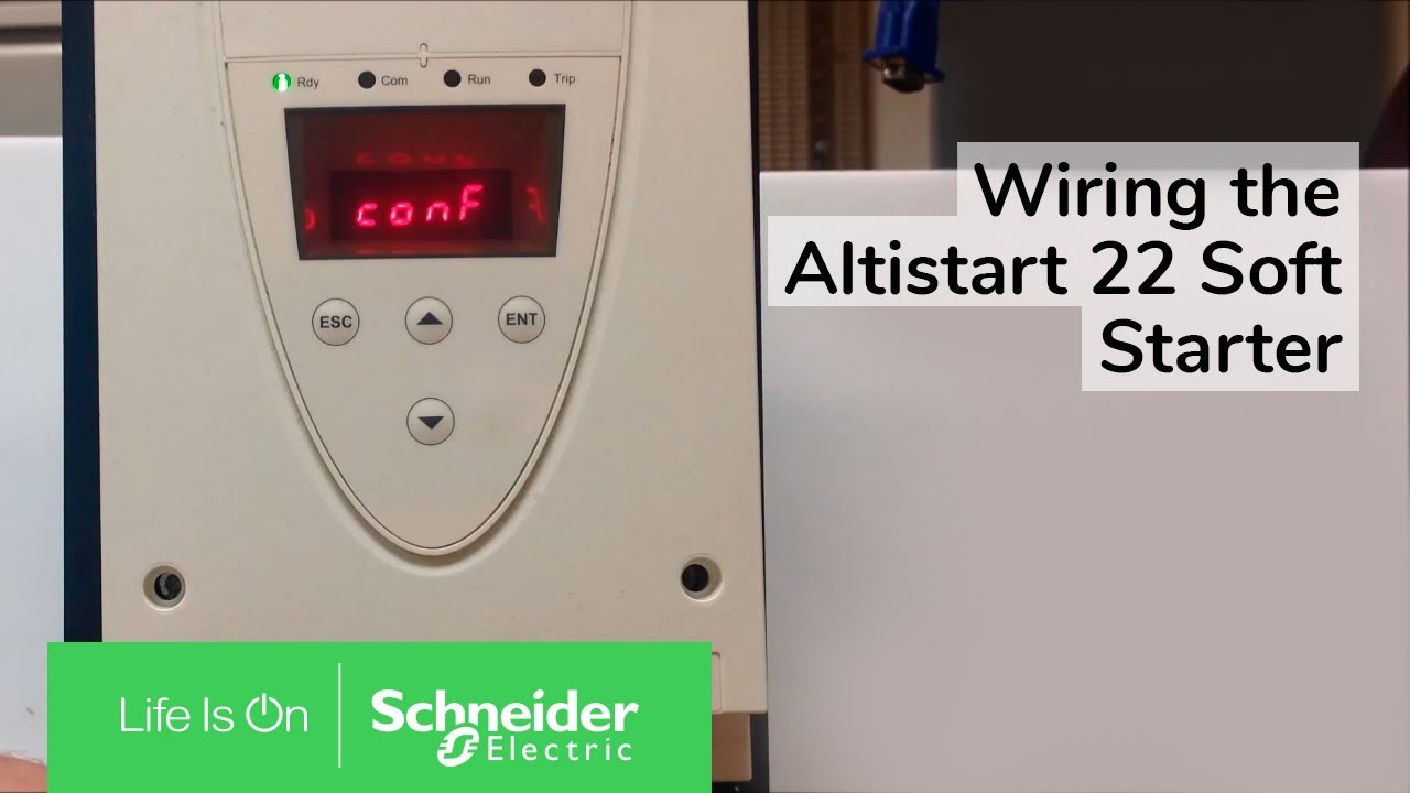 Wiring The Altistart 22 Soft Starter W   S6u Suffix For 2