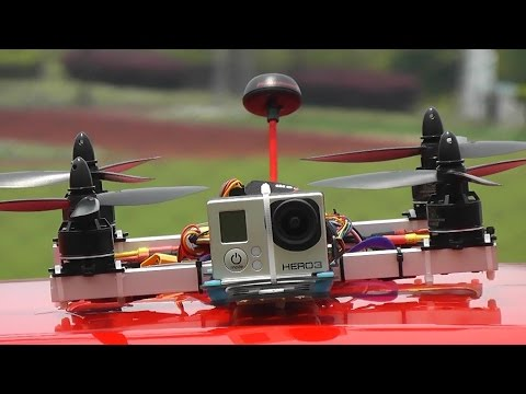 Home Built Quadcopter Practicing FPV Racing