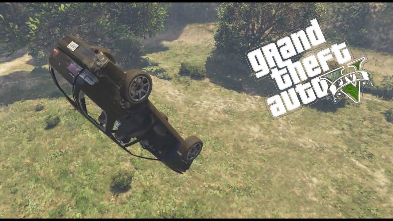 GTA 5 Crazy Crash Ups off Mountain Tops! Insane drivers!
