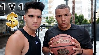 Basketball trickshots vs alex wassabi!!