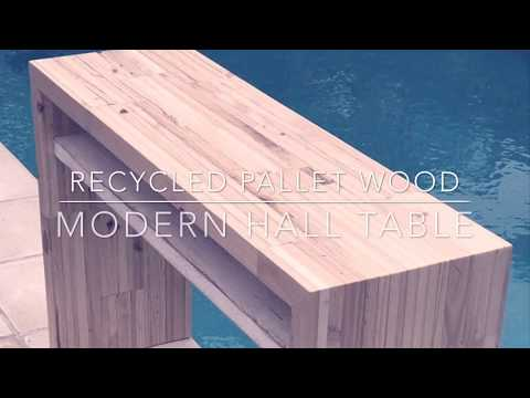 How to make a Modern Pallet Wood Hallway Table DIY