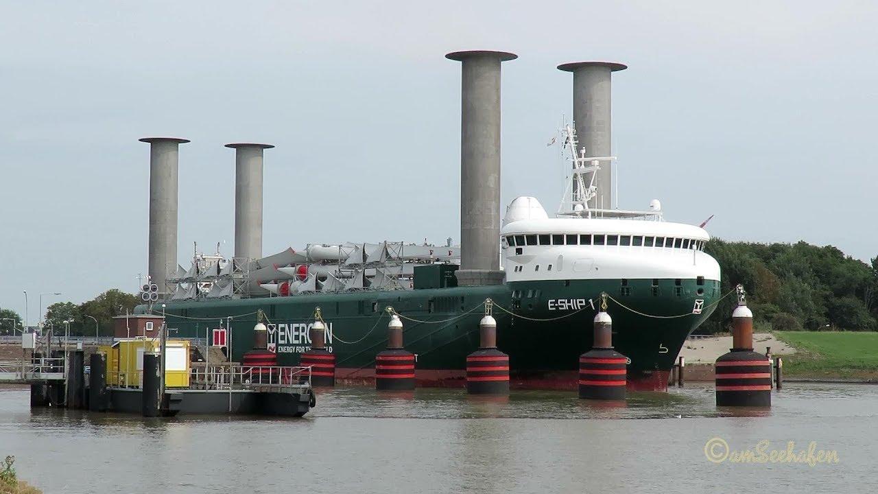 E Ship 1 Dgfn2 Imo 9417141 Emden Enercon Rotorschiff Flettner