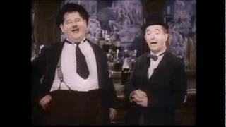 Laurel & Hardy ~ 'The trail of The Lonesome Pine'. (In Colour)