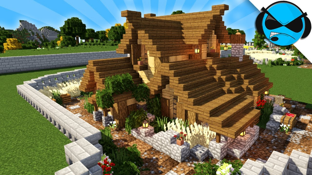 Minecraft Farm House Tutorial How To Build A Medieval Village In Minecraft Youtube