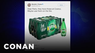 Trump's Tweetstorm About The Notre Dame Cathedral Fire - CONAN on TBS