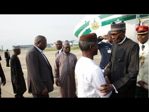 Nigerian President Muhammadu Buhari returns home after spending more than 100 days in London