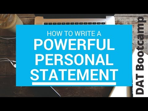 How to Write the Best Personal Statement For Dental School!