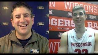 Wisconsin's Ethan Happ recaps 26-point night dethroning Michigan
