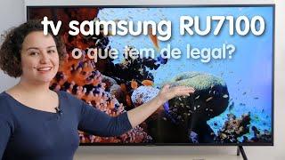 Eu finalmente tenho uma TV 4K! O que a Samsung RU7100 tem de legal?