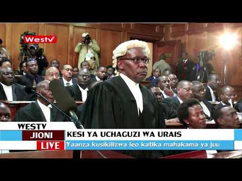 Kuskilizwa kwa maombi yaliyowasilishwa kufuta ushindi wa rais Uhuru
