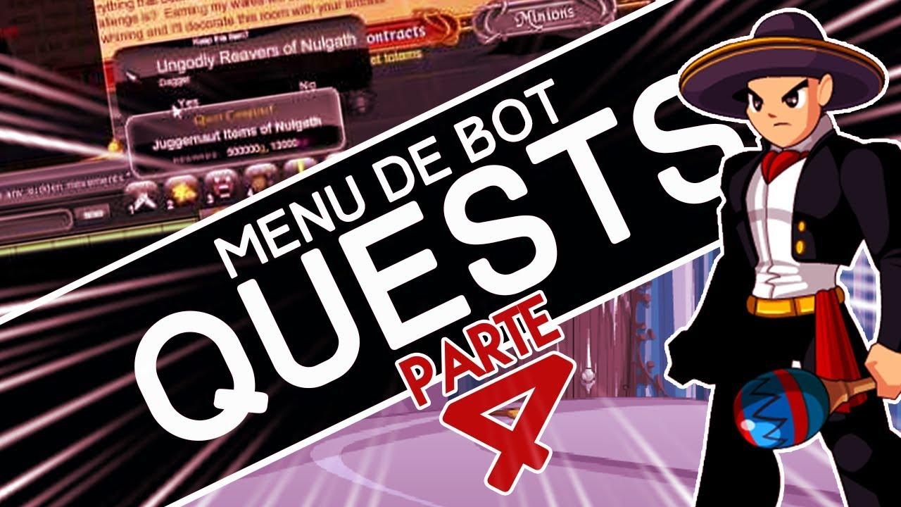 AQW BOT GRIAMORE - Tutorial menu de bot PARTE 4: Aba Quest!