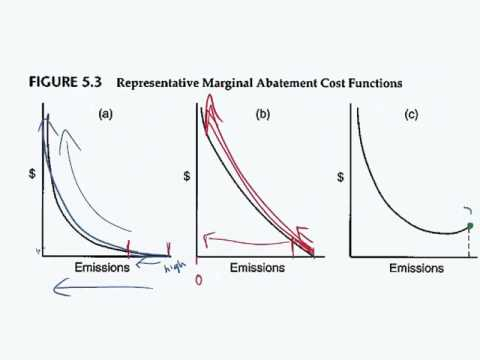 Figure 5.3 Showing different marginal abatement costs curves