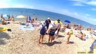 Кемпинг в Архипо-Осиповке. Дорога на море.(В этом видео я заснял путь к морю от кемпинга Сосновый берег, через кемпинг
