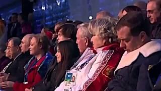 Медведев спит на открытии олимпиады 2014