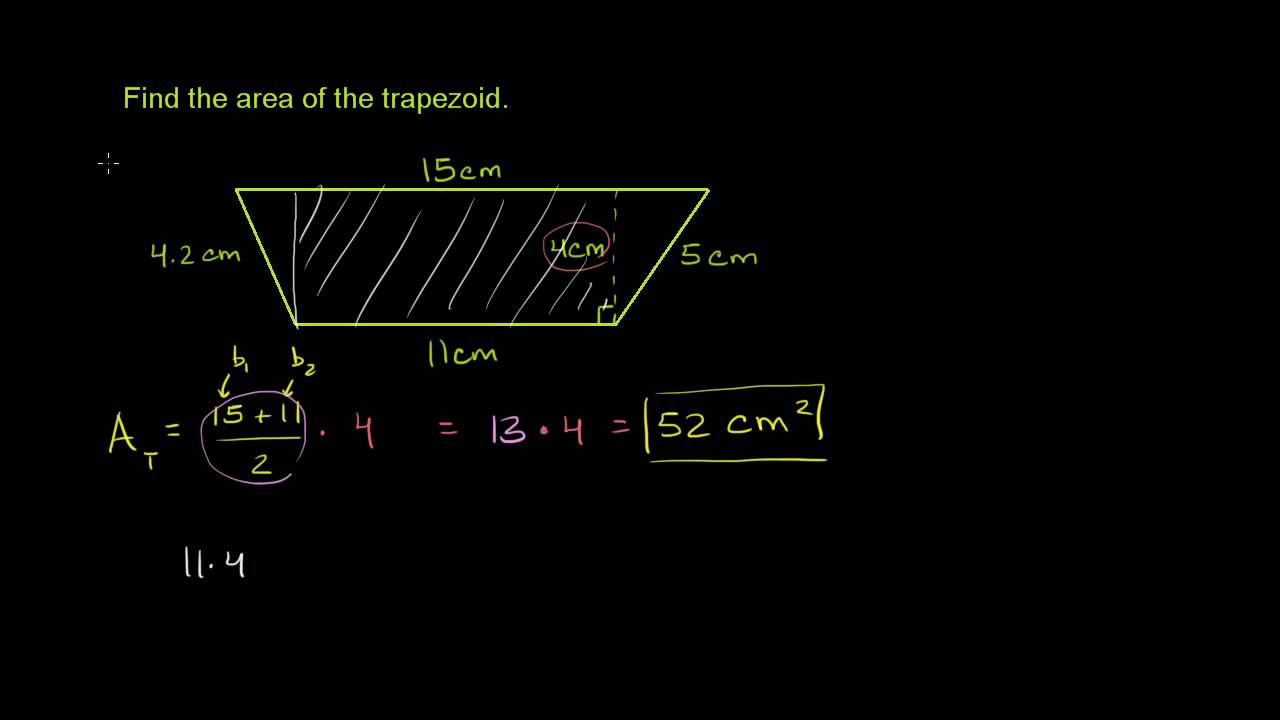 medium resolution of Area Of Trapezoids (solutions