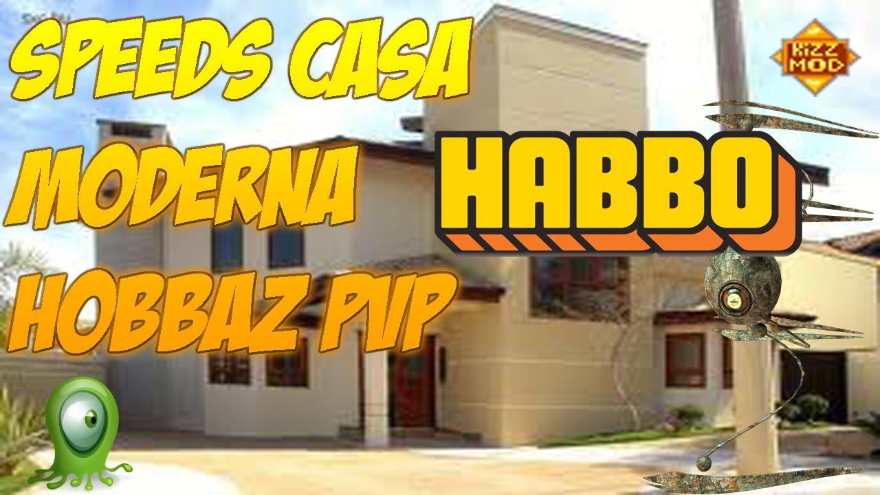 Speeds casa moderna en habbo pvp youtube for Casa moderna habbo