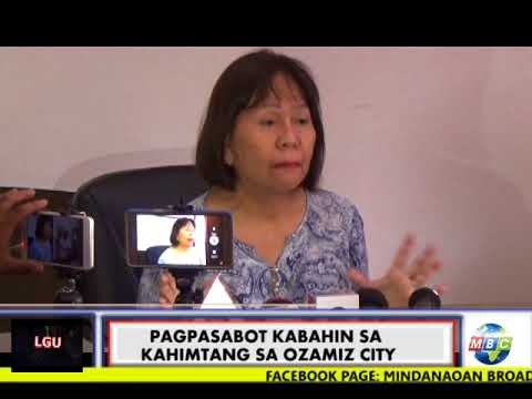 MBC OZAMIZ Press Conference with Acting Ozamiz City Mayor Girlet Luansing