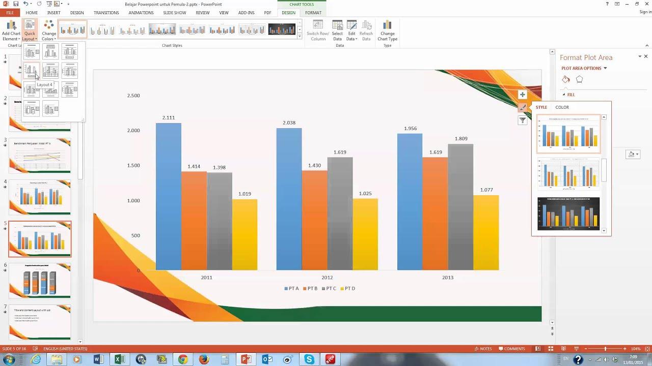 Belajar powerpoint pemula cara membuat grafik untuk pelaporan belajar powerpoint pemula cara membuat grafik untuk pelaporan kemudian membuat animasi grafik 2 youtube ccuart Choice Image