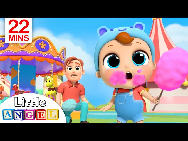 Playtime at the Theme Park | Little Angel Nursery Rhymes & Kids Songs