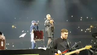 Баста - Сансара. Олимпийский 22 апреля 2017 концерт. Диана Арбенина, Вася и его дочка. Live.