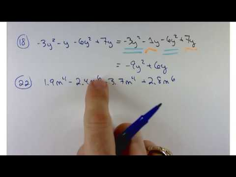 Mat 1100 Section 5.5 Adding and subtracting polynomials