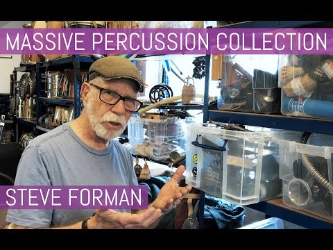 Massive Percussion Collection Of Steve Forman