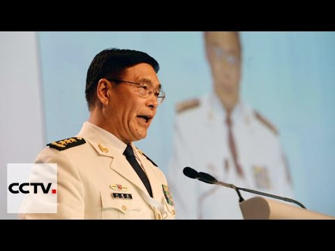 Chinese Admiral Sun delivers speech on final day of Shangri-La Dialogue
