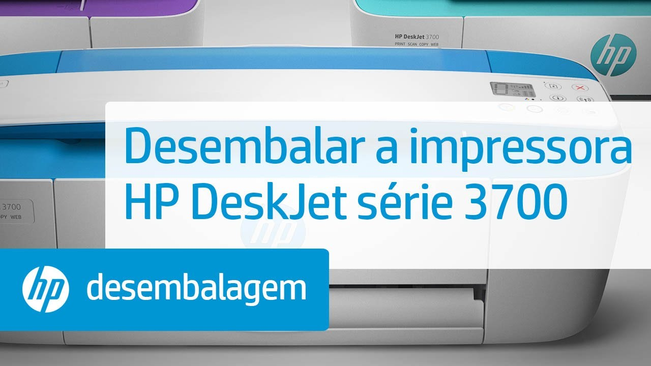 Desembalar A Impressora Hp Deskjet Série 3700 Impressoras Hp Hp Youtube