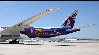 MAKING OF - The painting of Qatar Airway's Barça airplane